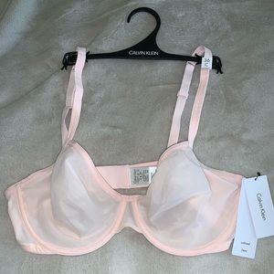 Calvin Klein unlined Demi bra 36C pale pink
